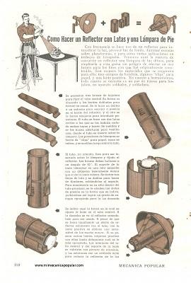 Como hacer un reflector con latas y una l mpara de pie - Como hacer una lampara de pie artesanal ...