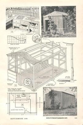 Proyectos de carpinter a pabellones de tablillas para for Vivero mi planta