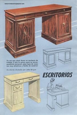 Proyectos de carpinter a escritorios para m quina de - Escritorio para escribir ...