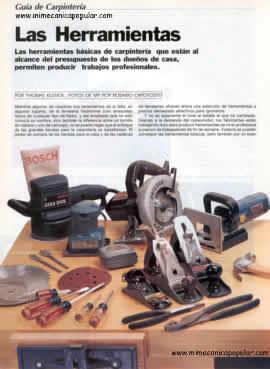Nombres Y Fotos De Herramientas De Carpinteria