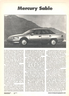 Ford Mercury Sable - Febrero 1992