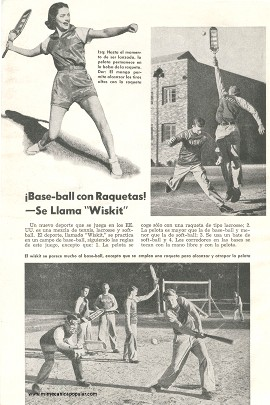 Base-ball con Raquetas -Se Llama Wiskit - Abril 1951