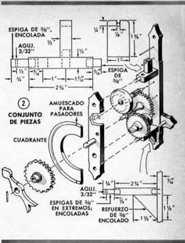 Construcción de un reloj de mecánica clásica hecho en mad