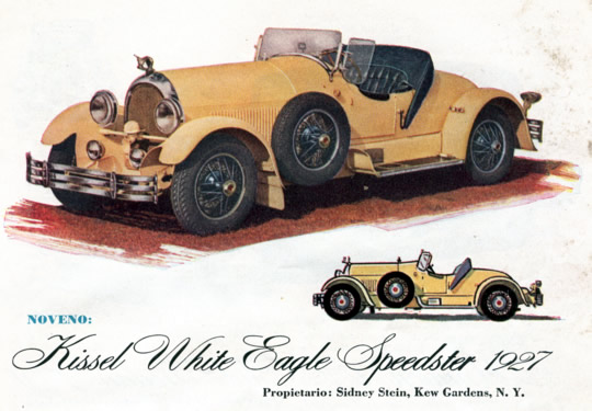 Noveno - Kissel White Eagle Speedster 1927